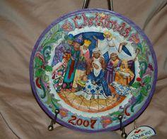 "Jim Shore 2007 Christmas Nativity 8"" Wall Plate ""Born This Day""  Heartwood Creek"