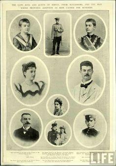 King Alexander Obrenović and Queen Draga
