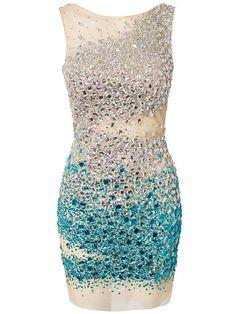 Forever Unique Dazzle Dress Paljettimekot - Sininen