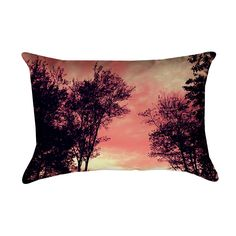 Artistic pillow showing a setting sun through clouds and trees home decor throw pillow 14 X 20 by GHJPhotographyArt on Etsy