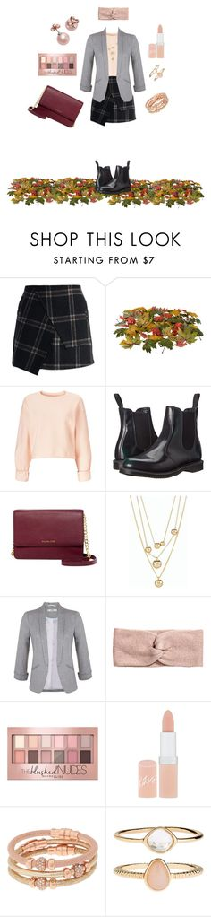 """""""Fall Style"""" by keepfashion92 ❤ liked on Polyvore featuring Chicwish, Miss Selfridge, Dr. Martens, MICHAEL Michael Kors, Talbots, Maybelline, Rimmel, Henri Bendel, Accessorize and Kate Spade"""