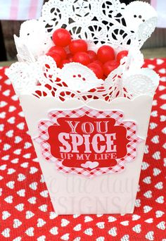 You Spice Up My Life Valentines from @lovethedaydsign