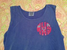 Lilly monogrammed tank top #inlove