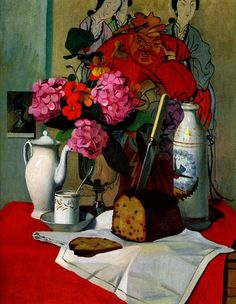 'Nature morte a la peinture chinoise' (Still Life with Chinese Painting) by Swiss artist Felix Vallotton via my daily art display Edouard Vuillard, Painting Still Life, Still Life Art, Paul Gauguin, Art Français, Magic Realism, Post Impressionism, Chinese Painting, French Art