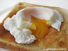 Soft boiled egg on toast. A favorite breakfast until I was about 7 or 8--now I despise eggs.