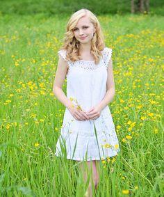 Look what I found on #zulily! White Elyse Ibiza Dress - Girls by Little Cotton Dress #zulilyfinds