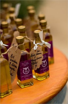 olive oil favor with adorable bottling @weddingchicks