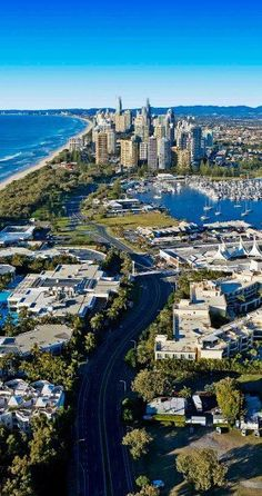 The Gold Coast Is A Coastal City in South-Eastern Queensland on the East Coast of Australia. It is 94 Kilometres South Of The State Capital 'Brisbane'. Australia Boasts Some Of The Best Beaches & Waterfront Real Estate In The World -ShazB Wonderful Places, Great Places, Places To See, Beautiful Places, Beautiful Beach, Gold Coast Australia, Queensland Australia, South Australia, Brisbane Queensland