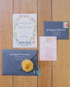 Floral Invitations Done 5 Ways | Photo by: Jasmine Star Photography | TheKnot.com