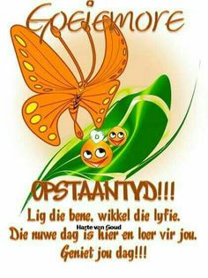 Good Morning Wishes, Good Morning Quotes, Goeie Nag, Goeie More, Afrikaans Quotes, Cute Quotes, Words, Sayings, Night
