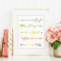 Hey, I found this really awesome Etsy listing at https://www.etsy.com/listing/255312712/watercolor-floral-arrows-digital-print