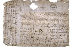 A scan of Richard III's request for the Great Seal with postscript on treachery of Duke of Buckingham, 12 Oct 1483 from the National Archives. Credit: University of Leicester.