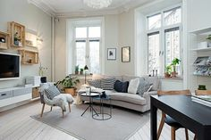 decoración de sala de estar escandinava