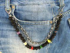 Catena uomo da tasca in pietra dura Chain male pocket in hard stone