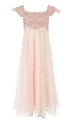 25 Fun Flower Girl Dresses for Your Alternative Wedding - Pink Beaded Estella Vintage Flower Girl Dress Monsoon