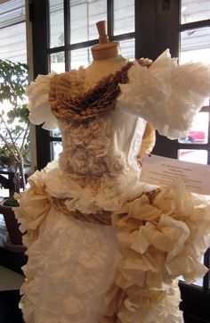 gown from coffee filters for coffee soiree