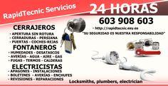 Cerrajeros, Fontaneros, Electricistas Alberic 603 909 909 en Alberique, Comunidad Valenciana