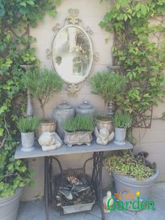 Shabby Chic Vintage Metal Grey Finish Garden Churn AllChic
