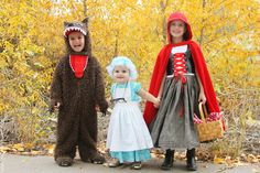 """You guys.....Ashley is the BOMB.  Look what she sewed!  The whole """"Red Riding Hood"""" crew!!"""