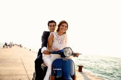 Bride and Groom on a Vespa | Luxury Italian Wedding | Art of Perfection Events | Francesco De Tito Photography | Bridal Musings Wedding Blog 13