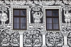 Painted Facade in the Historic Centre. by Ken Scicluna : Czech Republic, Find Art, Framed Artwork, Facade, Centre, Gallery Wall, Places, Poster, Facades