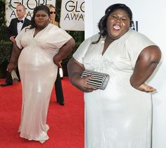 Listen up, just because some of y'all are in the Each One Teach One program, that does not give you the right to clown Gabourey Sidibe on her Golden Globe red carpet look. Dressed like a U-haul with a condom over it, Sidibe was the brunt of a lot of jokes last night.  You ever really want ...