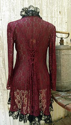 Lace Jacket Victorian Steampunk Flare. $55.00, via Etsy.