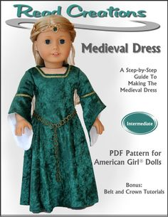 """Medieval Dress 18"""" Doll Clothes"""