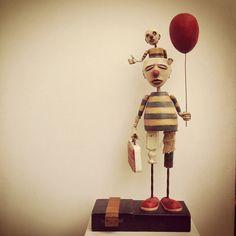 clown sculpture, fine art, Trent Manning, Park City gallery, mixed media sculpture