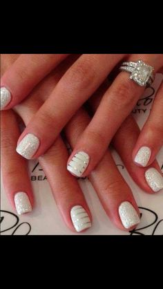 Cute nail idea. Not necessarily a bridal idea.