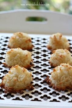 Easy Coconut Almond Macaroons- low carb, gluten free, sugar free, dairy free, but oh so yummy!