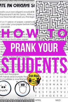 How to Prank Your Students – Ninja Notes