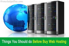 Things You Should do Before Buy Web Hosting.