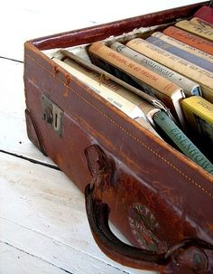 Mind travel. Cute way to store books. For when you can't afford a real vacation Kindle http://www.jetsetterjess.com/