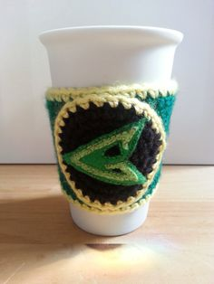 Green Arrow Inspired Coffee Cosy