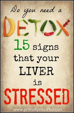 Do you need a detox? Learn the 15 signs that you have a stressed liver and what you need to do to safely detox so you can regain your health. Our liver is so overburdened and overworked from the to… Healthy Detox, Healthy Tips, Healthy Women, Healthy Facts, Natural Detox, Natural Health, Health And Wellness, Health Fitness, Holistic Nutrition