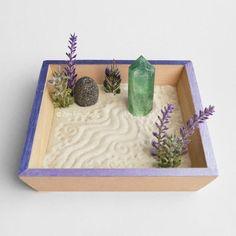 Desk Zen Garden, Zen Garden Design, Meditation Garden, Miniature Zen Garden, Mini Zen Garden, Blue Calcite, Zen Room, Relax Room, Relaxation Gifts