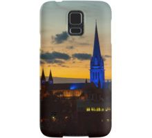 Blue Lit Sacred Heart Cathedral at Nightime - Bendigo, Victoria Samsung Galaxy Case/Skin