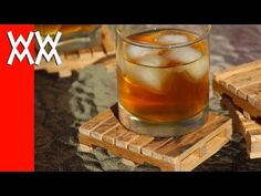 Pallet drink coasters made from, well, pallets! Easy to make. - YouTube (instructional)