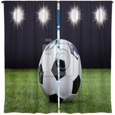 Custom Soccer Window Curtains Made To Order In ANY Size You Need Webs Largest Selection Of Themed Drapes Valances Athletes And