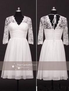 Hey, I found this really awesome Etsy listing at https://www.etsy.com/listing/195120672/short-lace-wedding-dress-ivory-white