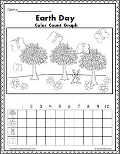 Earth Day Math – Color Count and Graph