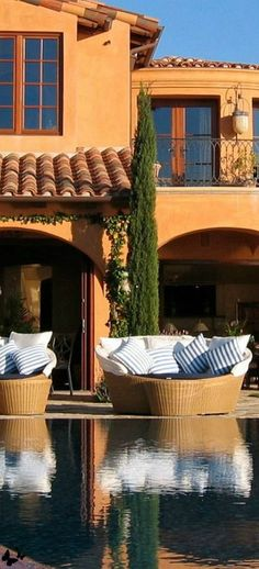 #PinMyDreamBackyard Joseph Abhar - Spanish Colonial Revival extriior exemplifies beauty and elegance!!