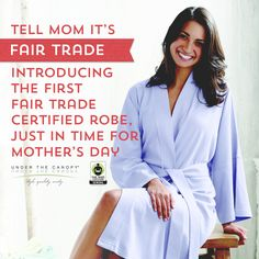 Announcing the first ever #FairTrade Certified robe! Enter to #win one of these ultra-soft cotton robes from Under the Canopy, and see how they are changing the way that apparel factories do business: http://fairtradeusa.org/blog/under-the-canopy-first-fair-trade-certified-robes