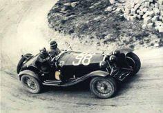 Tazio Nuvolari in Scuderia Ferrari's Alfa Romeo 8C 2300 Spider Zagato, Mille Miglia 1933