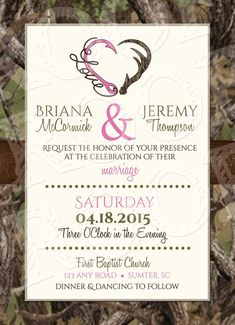 Hooked On Love Invitation and RSVP
