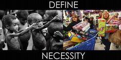 Dame la definicion de Necesidad...