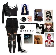 """Bailey changed creepypasta"" by littleangel66 ❤ liked on Polyvore featuring Alo Yoga, Converse, Charlotte Russe, River Island, Swarovski and plus size clothing"