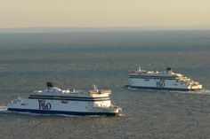 P & O Ferries two new ships.  Spirit of Britain & Spirit of France.  Drive car on and enjoy the view of the English Channel.