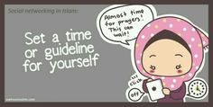 Set a time or guideline for yourself